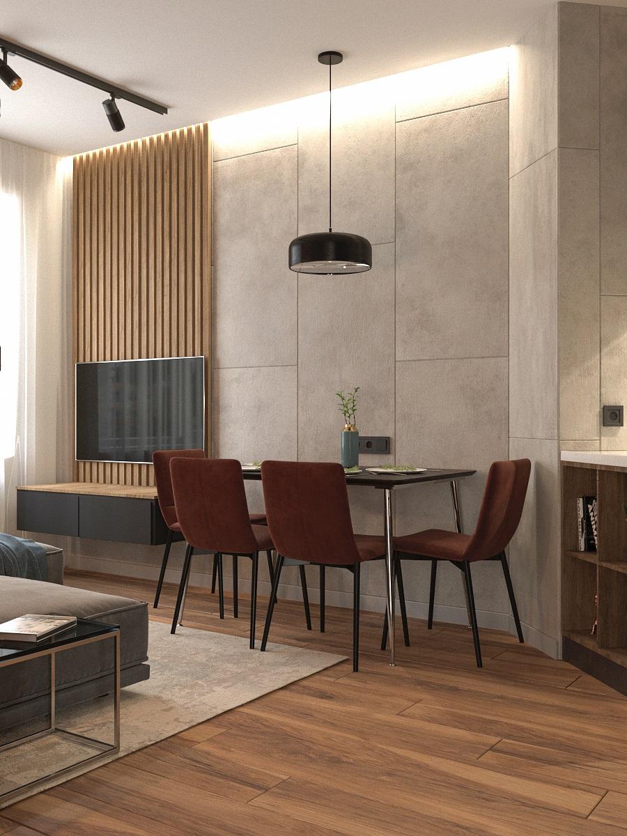 Видовой кадр кухни-гостиной 1