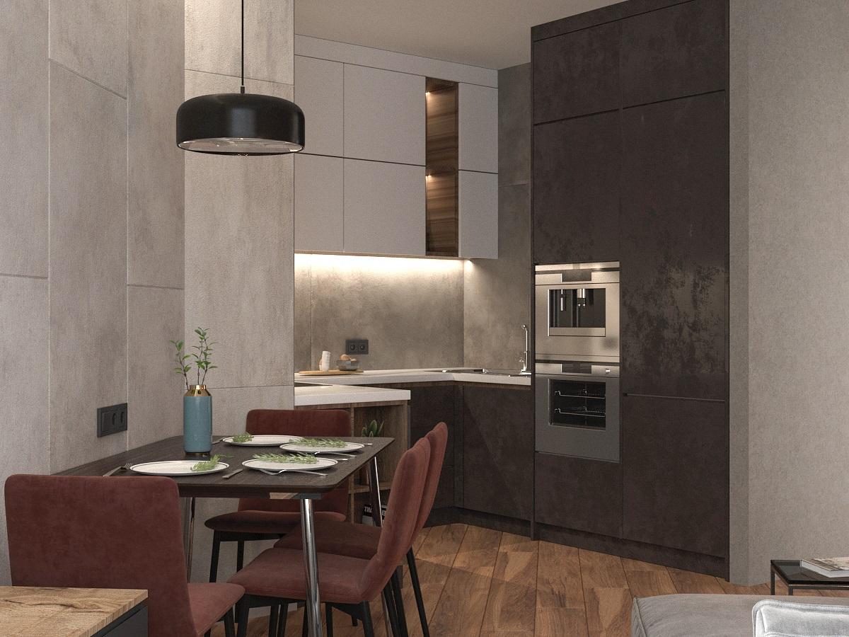Видовой кадр кухни-гостиной 4