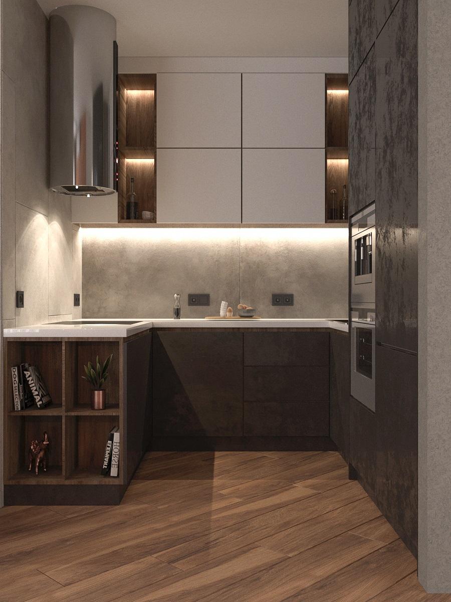 Видовой кадр кухни-гостиной 5